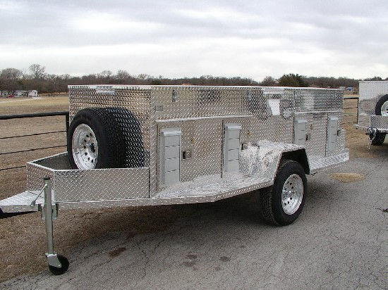 Cline Kennel Aluminum Dog Trailers